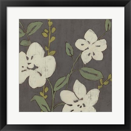 Framed Cream Florals II Print