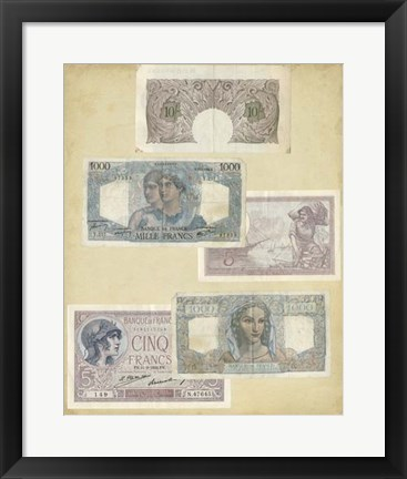 Framed Antique Currency II Print