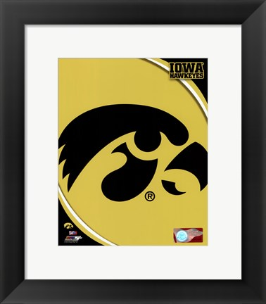 Framed University of Iowa Hawkeyes Logo Print