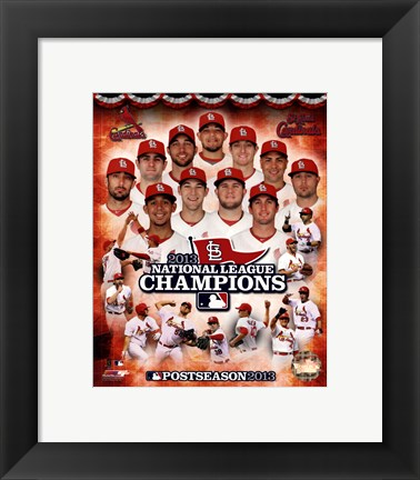 Framed St. Louis Cardinals 2013 National League Champions Composite Print