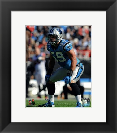 Framed Luke Kuechly 2013 Action Print