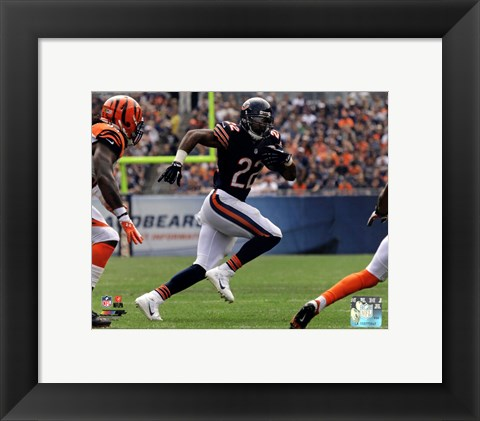 Framed Matt Forte in action 2013 Print