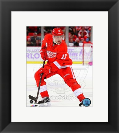 Framed Pavel Datsyuk 2013-14 Action Print