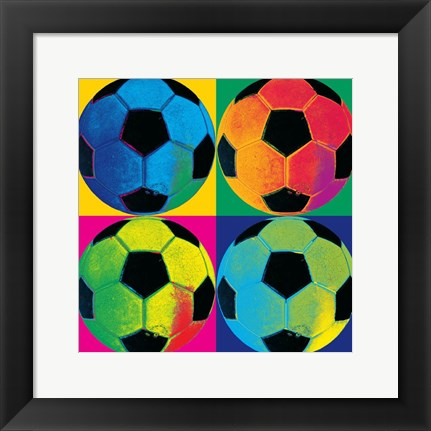 Framed Ball Four-Soccer Print
