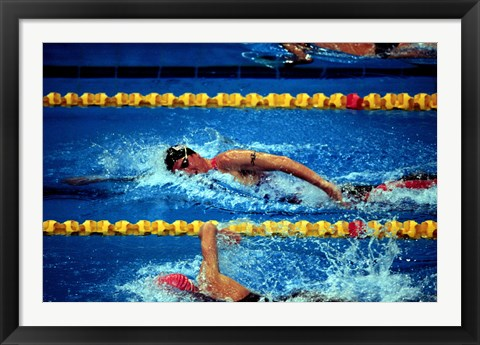 Framed Chad Senior - Modern Pentathlon - swim Print