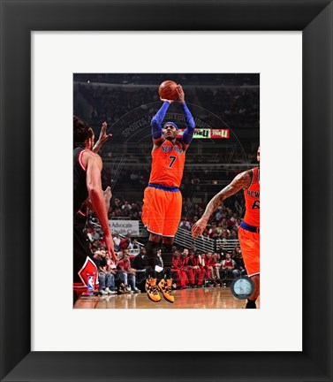 Framed Carmelo Anthony 2013-14 shooting Print