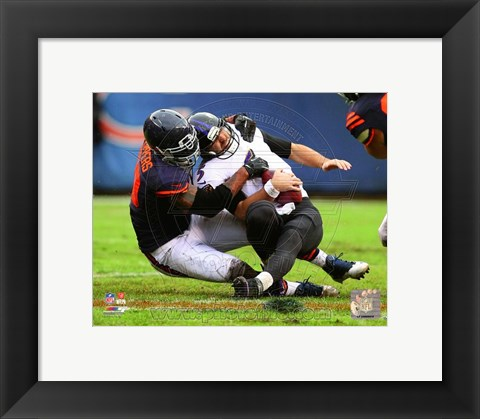Framed Julius Peppers 2013 Action Print