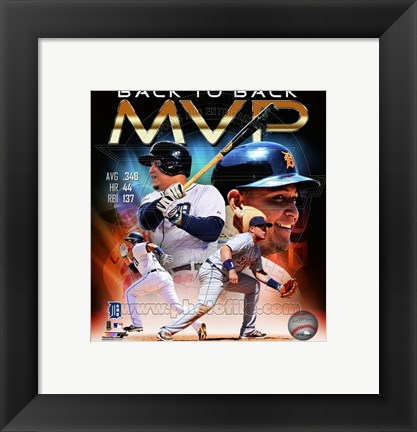 Framed Miguel Cabrera 2013 American League MVP Portrait Plus Print