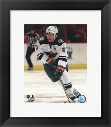 Framed Zach Parise 2013-14 Action Print
