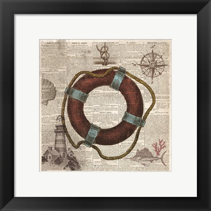 Framed Nautical Collection IV - Mini Print