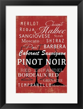 Framed Red Wine Collection - Mini Print
