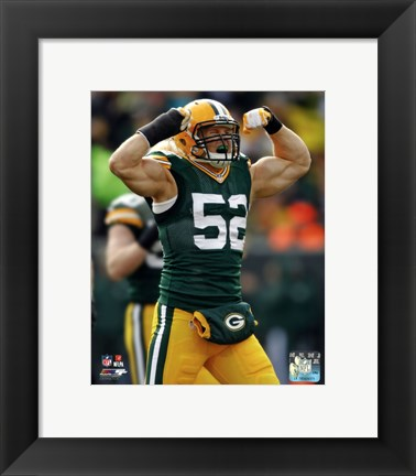 Framed Clay Matthews 2013 Print