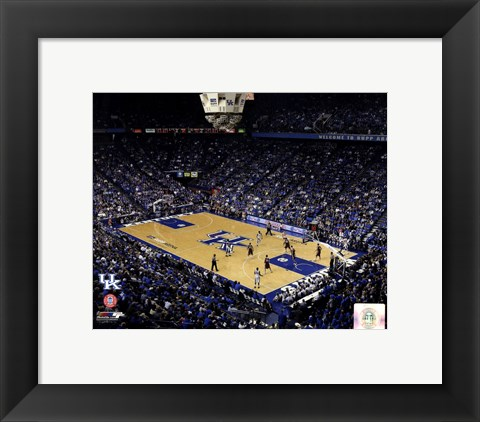 Framed Rupp Arena University of Kentucky Wildcats 2012 Print