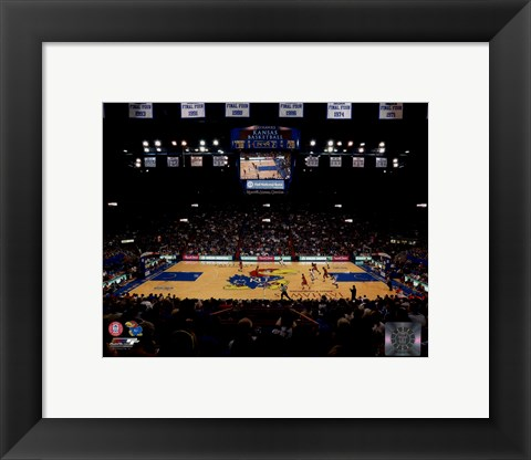 Framed Allen Fieldhouse University Court of Kansas Jayhawks 2012 Print