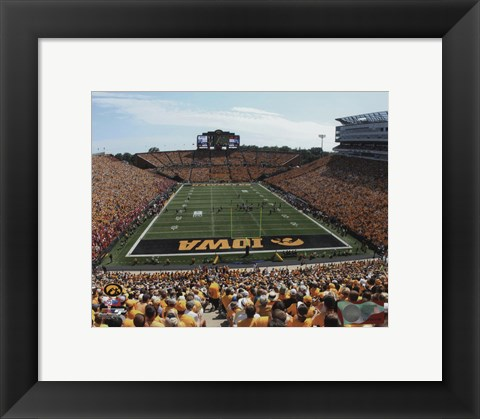 Framed Kinnick Stadium University of Iowa Hawkeyes 2013 Print