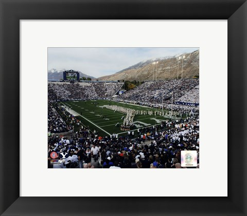 Framed LaVell Edwards Stadium BYU Cougars 2013 Print