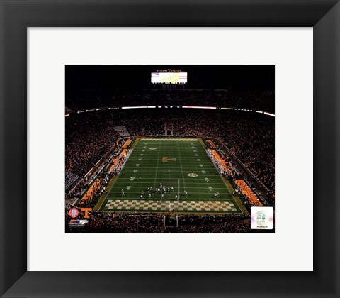 Framed Neyland Stadium Univserity of Tennessee Volunteers 2013 Print
