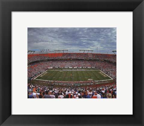 Framed Sun Life Stadium University of Miami Hurricanes 2013 Print