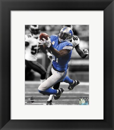 Framed Calvin Johnson Spotlight 2013 Print