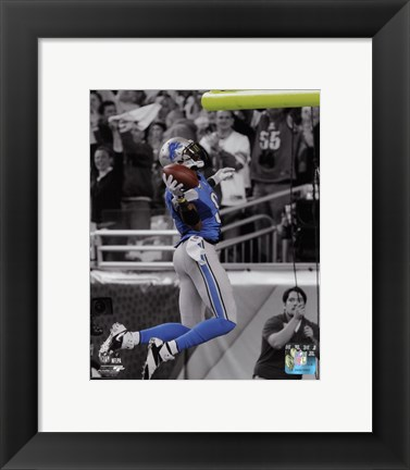 Framed Calvin Johnson 2013 Spotlight Print