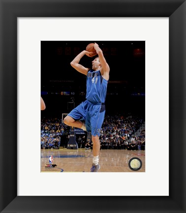 Framed Dirk Nowitzki 2013-14 Action Print