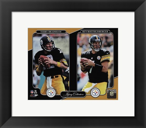 Framed Terry Bradshaw & Ben Roethlisberger Legacy Collection Print