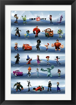 Framed Disney Infinity - Phase 1 Grid Print