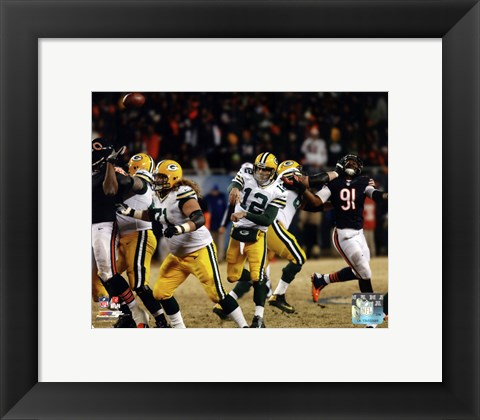 Framed Aaron Rodgers 2013 Action Print
