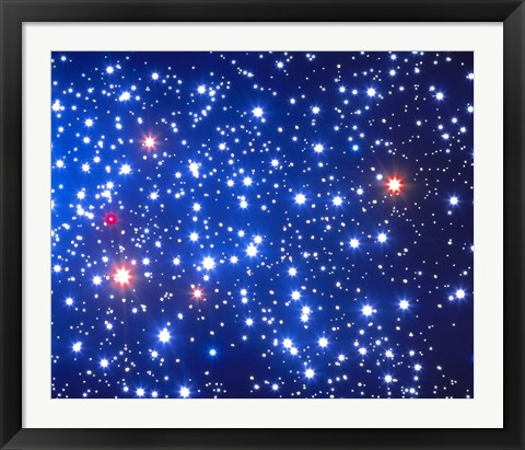 Framed Stars in Space Print