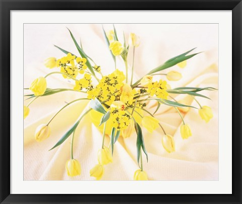 Framed Arranged yellow flowers Print