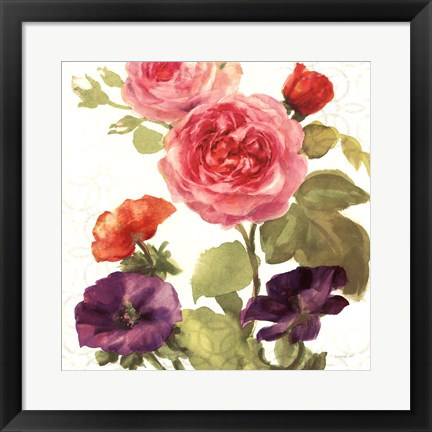 Framed Watercolor Floral III Print