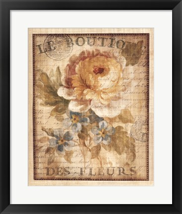 Framed Parisian Flowers I Print