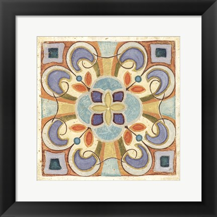 Framed Birds Garden Tile II Print