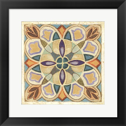 Framed Birds Garden Tile III Print