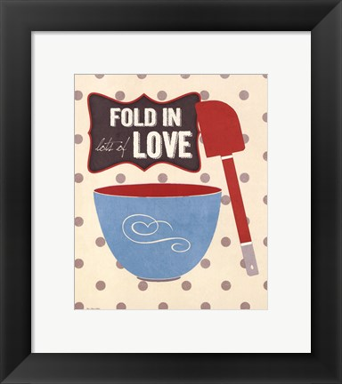 Framed Fold In Love Print