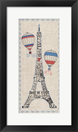 Framed Paris from Above Print