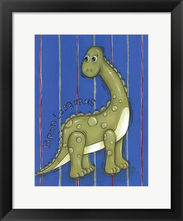 Framed Green Dino Print