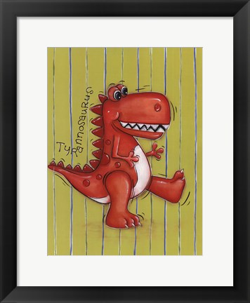 Framed Red Rex Print