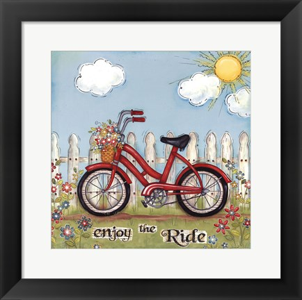 Framed Enjoy The Ride Print