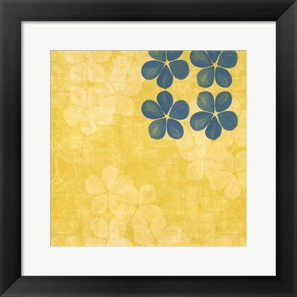 Framed Yellow Floral Print