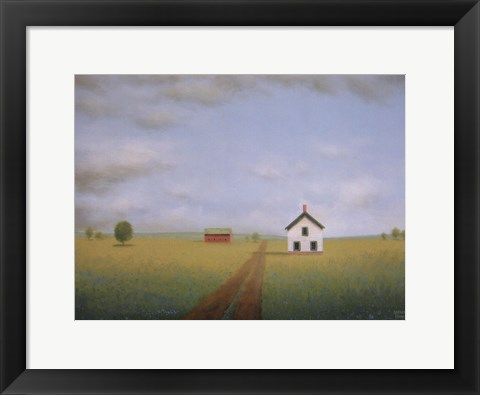 Framed Along the Old Country Road Print