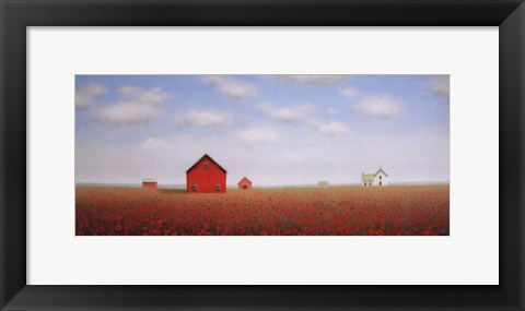 Framed In a Poppy Meadow Print