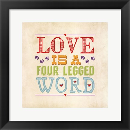 Framed Love Is Print