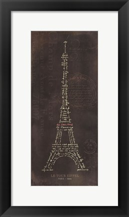 Framed EiffleTower D Print