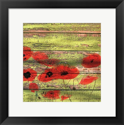 Framed Red Poppies 1 Print