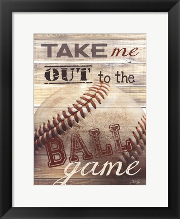 Framed Take Me Out to the Ballgame Print