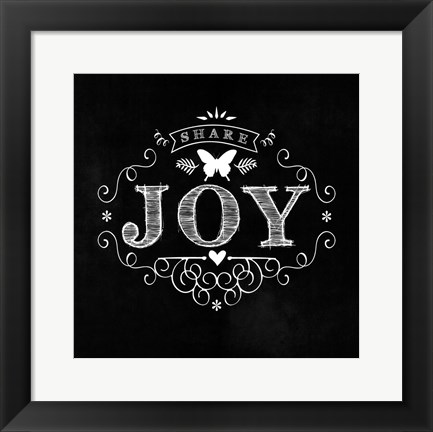 Framed Joy Print