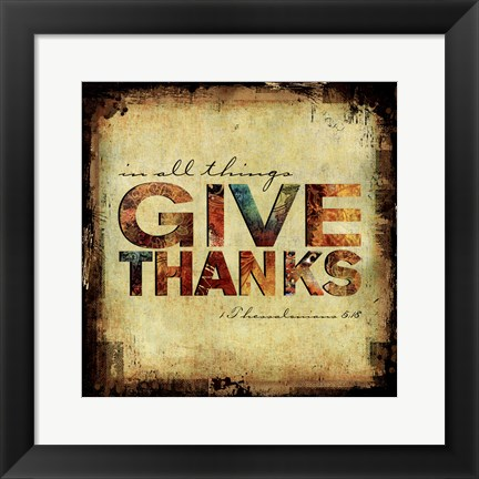 Framed Fall Give Thanks Print