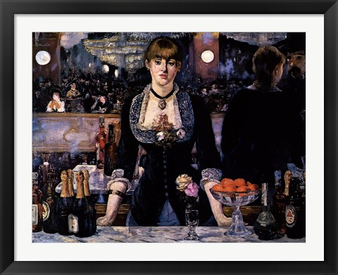 Framed Bar at the Folies-Bergere Print