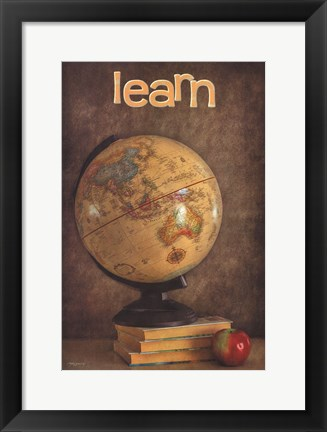 Framed Learn Print